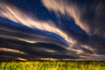 Fantastic starry sky over the head. Fototapete
