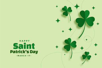 Obraz green saint patricks day festival elegant banner - fototapety do salonu