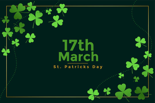 happy st patricks day march festival banner design