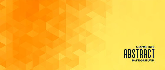 abstract yellow geometric pattern banner design