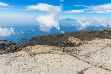 View from the Lemosho trail, the most scenic trail on mount Kilimanjaro, Tanzania