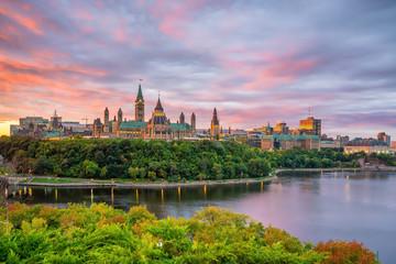Fototapete - Parliament Hill in Ottawa, Ontario, Canada