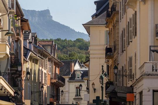 Historic center in Aix-les-Bains, France