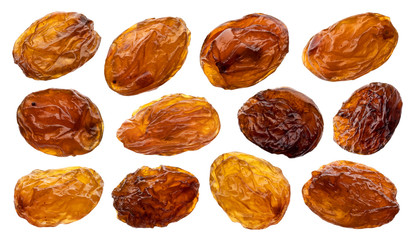 Raisins isolated on white background, close up Fotomurales