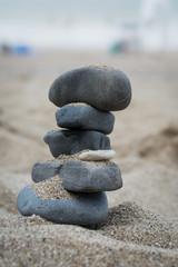 Photo sur Plexiglas Zen pierres a sable tour de pierre