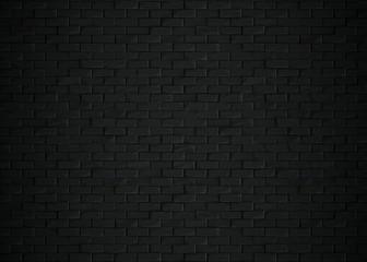 Wall Murals Brick wall Black bricks background