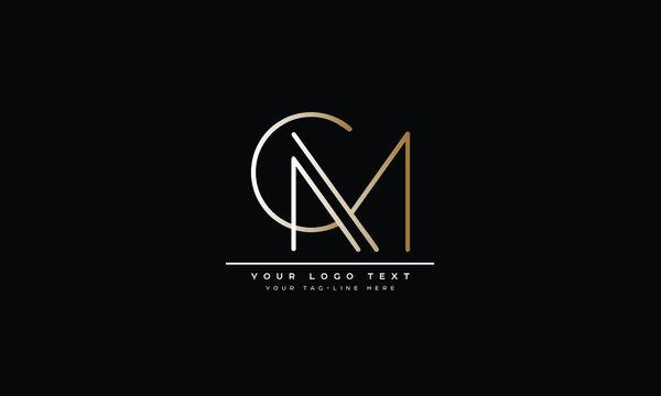 CM ,MC ,C ,M  Letter Logo Design with Creative Modern Trendy Typography