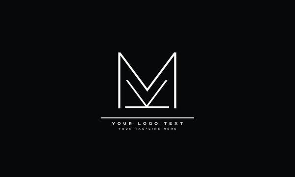 MK ,KM ,M ,K  Letter Logo Design with Creative Modern Trendy Typography