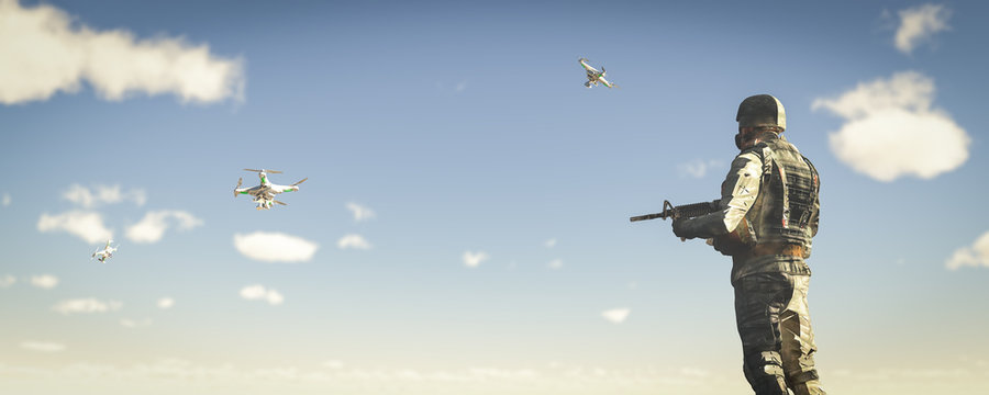 drone used by the military for transportation and espionage