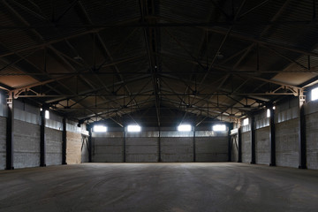 Warehouse for storage of various goods and equipment Wall mural