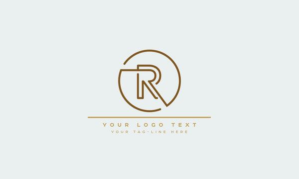 Letters monogram icon logo R or RR