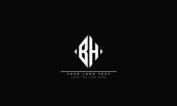 BH ,HB ,B ,H  Letter Logo Design with Creative Modern Trendy Typography