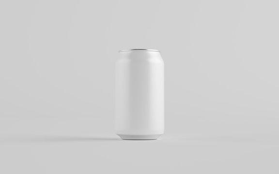 12 oz. / 330ml Aluminium Can Mockup - One Can. Blank Label.  3D Illustration