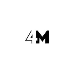 Fototapeta 4M 4 M logo icon design template elements obraz