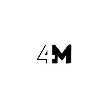 4M 4 M logo icon design template elements