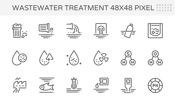 wastewater icon set