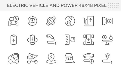 electric vehicle power icon