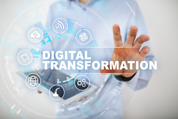 Wall Mural - Digital transformation, Concept of digitization of business processes and modern technology.