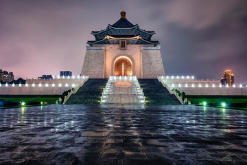 Fototapete - Chiang Kai-Shek Memorial in Taipei
