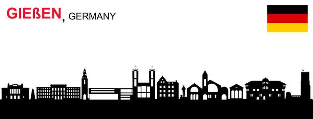 Gießen Skyline Fotobehang