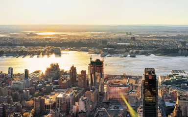 Aerial view to Manhattan West NY and NJ America Fototapete