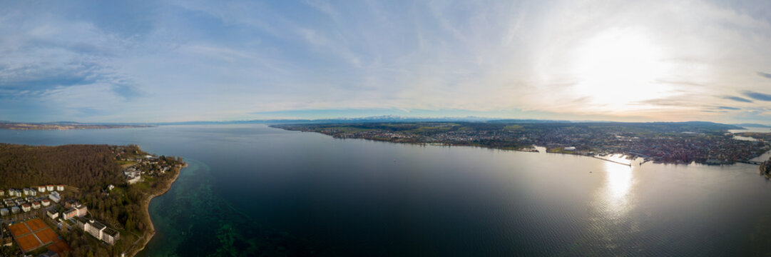 Panorama von Konstanz am Bodensee - Panorama from Lake of Constance