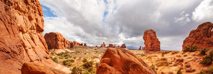 Fotorollo Rotglühen American landscapes