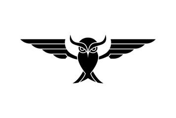 Canvas Prints Owls cartoon owl logo geometric stock vector