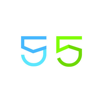 Letter s or number 5 logo, icon