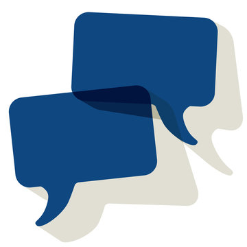 Chat speech bubbles vector color of the year 2020 Classic Blue