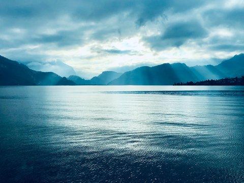 Morgen am Vierwaldstätter See