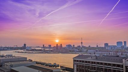 Fotorollo Rotterdam Sonnenuntergang in Rotterdam
