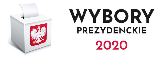 Obraz Wybory - Polska 2020 - urna wyborcza - głosowanie - fototapety do salonu