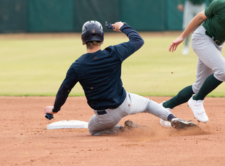 Young Baseball Player competing in a baseball game