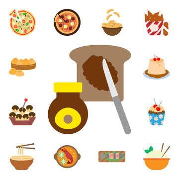 Buttered, marmite, toast icon. International Food icons universal set for web and mobile