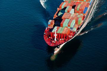 Fototapeta Bow of Container Ship obraz