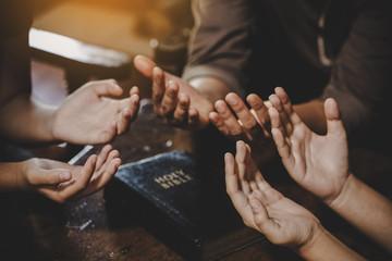 Fototapeta Group of different women praying together obraz