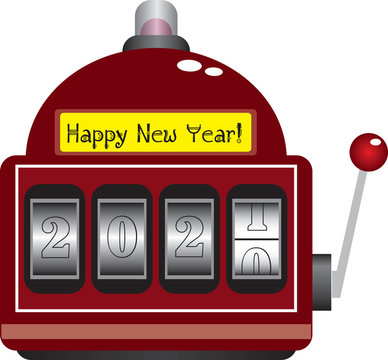 Casino with new year numbers