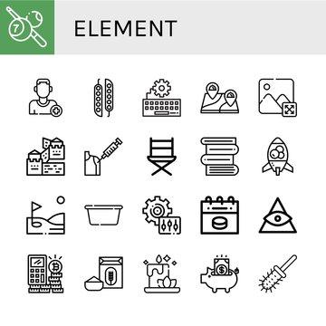 element icon set