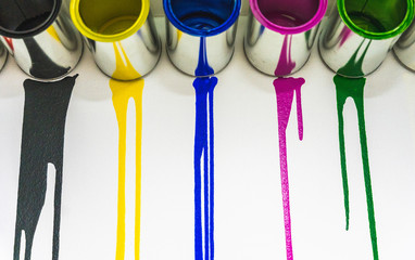 Concept photo of paint dripping from paint