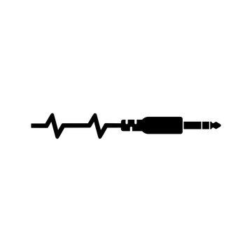 Audio jack icon isolated on white background