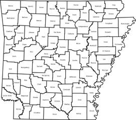 Fototapeta map of Arkansas