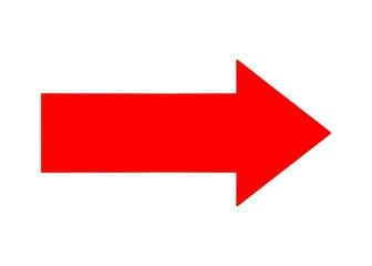 Fototapeta red arrow left  obraz
