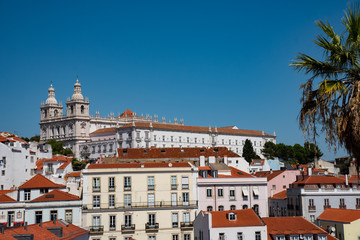 panorama of lisbon portugal photo