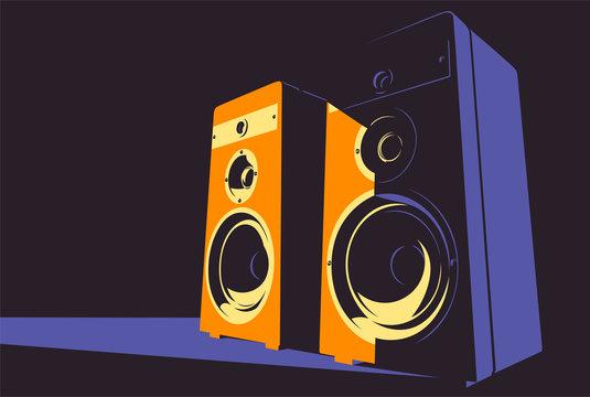 Sound system contrast illustration