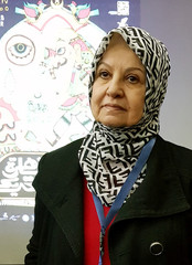 Rachida Elshafey, president of the Egyptian Animation Society, poses for a portrait after a press conference for the edition of Cairo International Animation Festival in Cairo