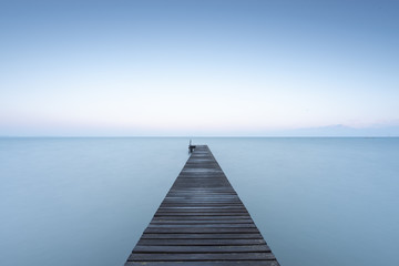 Jetty at Lake Garda