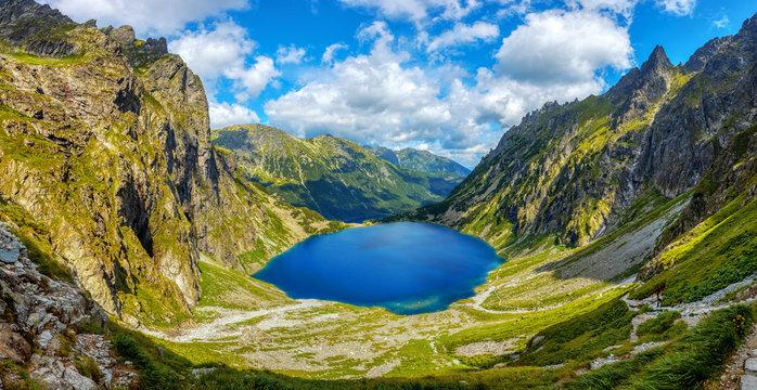Morskie Oko lake in polish Tatra Mountains, Poland