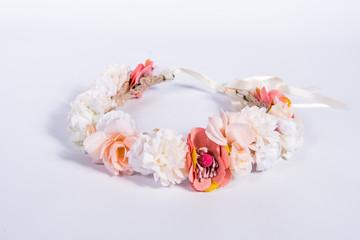 Obraz Wianek kwiatowy - fototapety do salonu
