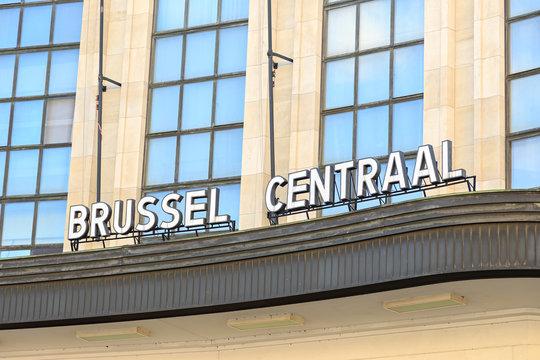 Brussels, Belgium - July 3, 2019: Brussels Central Station